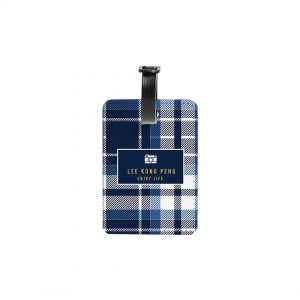 Luggage Tag – Blue Checkered